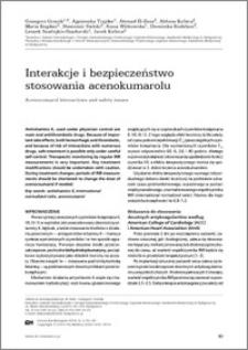 Interakcje i bezpieczeństwo stosowania acenokumarolu