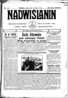 Nadwiślanin. Gazeta Ziemi Chełmińskiej, 1933.04.06 R. 15 nr 42