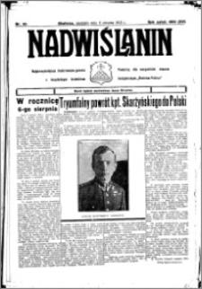 Nadwiślanin. Gazeta Ziemi Chełmińskiej, 1933.08.06 R. 15 nr 92