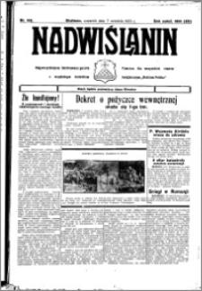 Nadwiślanin. Gazeta Ziemi Chełmińskiej, 1933.09.07 R. 15 nr 106