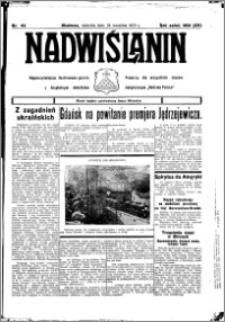 Nadwiślanin. Gazeta Ziemi Chełmińskiej, 1933.09.24 R. 15 nr 113