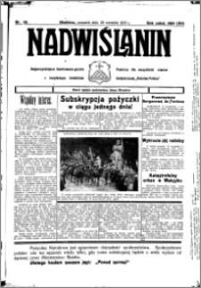 Nadwiślanin. Gazeta Ziemi Chełmińskiej, 1933.09.28 R. 15 nr 115