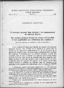 Studia Societatis Scientiarum Torunensis. Sectio A, Mathematica-Physica Vol. 1, nr 3 (1948)
