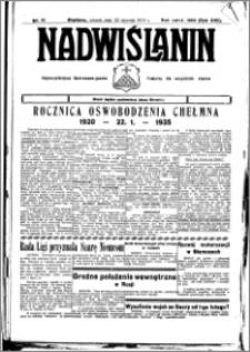 Nadwiślanin. Gazeta Ziemi Chełmińskiej, 1935.01.25 R. 17 nr 10