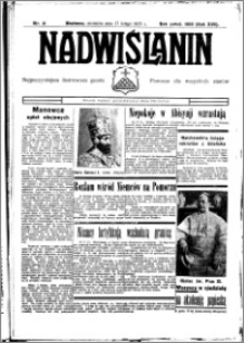 Nadwiślanin. Gazeta Ziemi Chełmińskiej, 1935.02.20 R. 17 nr 21