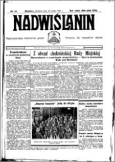 Nadwiślanin. Gazeta Ziemi Chełmińskiej, 1935.02.27 R. 17 nr 24