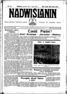 Nadwiślanin. Gazeta Ziemi Chełmińskiej, 1935.03.07 R. 17 nr 29