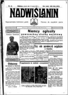 Nadwiślanin. Gazeta Ziemi Chełmińskiej, 1935.03.19 R. 17 nr 34