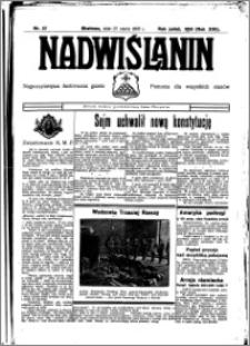 Nadwiślanin. Gazeta Ziemi Chełmińskiej, 1935.03.27 R. 17 nr 37