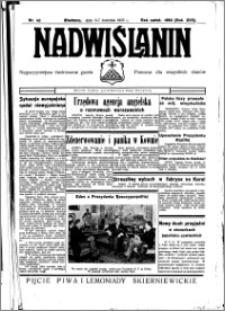 Nadwiślanin. Gazeta Ziemi Chełmińskiej, 1935.04.06-07 R. 17 nr 42
