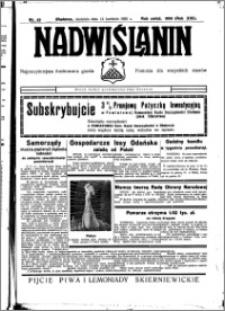 Nadwiślanin. Gazeta Ziemi Chełmińskiej, 1935.04.14 R. 17 nr 45