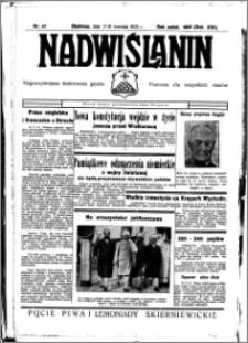 Nadwiślanin. Gazeta Ziemi Chełmińskiej, 1935.04.17-18 R. 17 nr 47