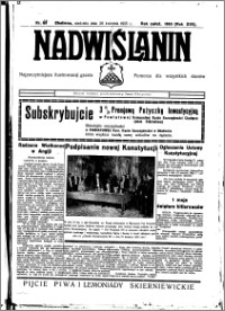 Nadwiślanin. Gazeta Ziemi Chełmińskiej, 1935.04.28 R. 17 nr 50
