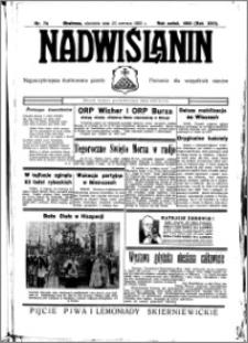 Nadwiślanin. Gazeta Ziemi Chełmińskiej, 1935.06.23 R. 17 nr 74