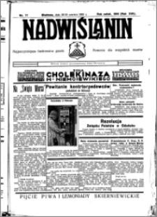 Nadwiślanin. Gazeta Ziemi Chełmińskiej, 1935.06.29-30 R. 17 nr 77
