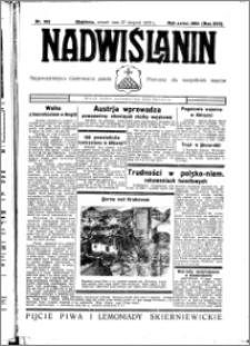 Nadwiślanin. Gazeta Ziemi Chełmińskiej, 1935.08.27 R. 17 nr 102