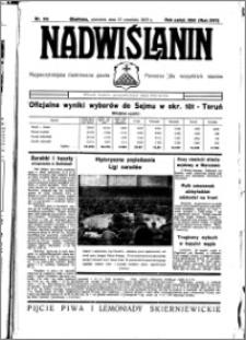 Nadwiślanin. Gazeta Ziemi Chełmińskiej, 1935.09.15 R. 17 nr 110