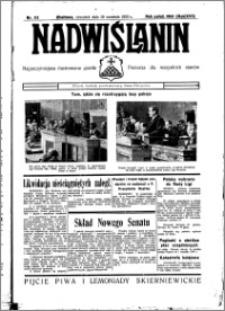 Nadwiślanin. Gazeta Ziemi Chełmińskiej, 1935.09.19 R. 17 nr 112