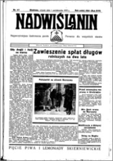 Nadwiślanin. Gazeta Ziemi Chełmińskiej, 1935.10.01 R. 17 nr 117