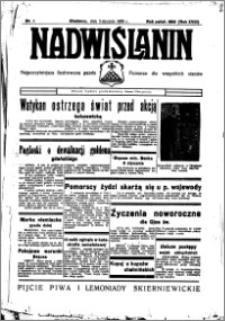 Nadwiślanin. Gazeta Ziemi Chełmińskiej, 1936.01.05 R. 18 nr 1