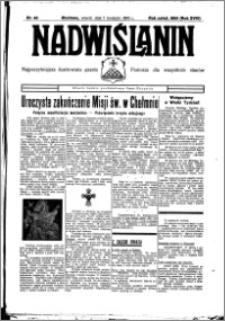 Nadwiślanin. Gazeta Ziemi Chełmińskiej, 1936.04.07 R. 18 nr 40