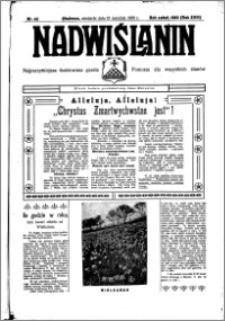 Nadwiślanin. Gazeta Ziemi Chełmińskiej, 1936.04.12 R. 18 nr 42