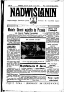 Nadwiślanin. Gazeta Ziemi Chełmińskiej, 1936.04.26 R. 18 nr 47