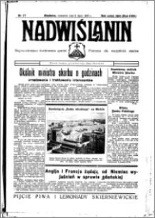 Nadwiślanin. Gazeta Ziemi Chełmińskiej, 1936.07.09 R. 18 nr 77
