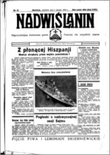 Nadwiślanin. Gazeta Ziemi Chełmińskiej, 1936.08.02 R. 18 nr 87