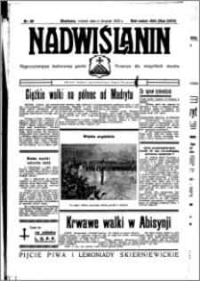 Nadwiślanin. Gazeta Ziemi Chełmińskiej, 1936.08.04 R. 18 nr 88
