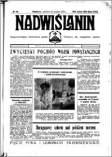 Nadwiślanin. Gazeta Ziemi Chełmińskiej, 1936.08.30 R. 18 nr 99