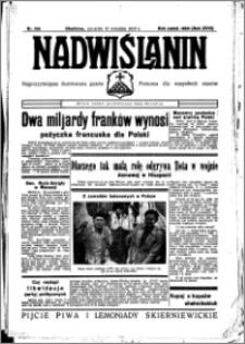 Nadwiślanin. Gazeta Ziemi Chełmińskiej, 1936.09.10 R. 18 nr 104