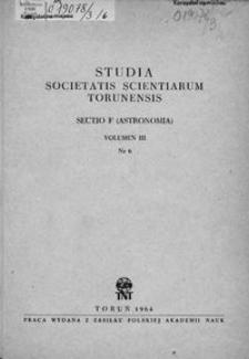 Studia Societatis Scientiarum Torunensis. Sectio F, Astronomia Vol. 3 nr 6 (1964)