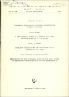 Studia Societatis Scientiarum Torunensis. Sectio F, Astronomia Vol. 5 nr 6 (1976)
