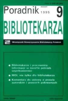 Poradnik Bibliotekarza 1995, nr 9