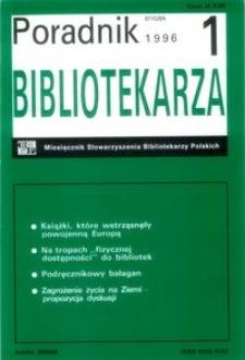 Poradnik Bibliotekarza 1996, nr 1
