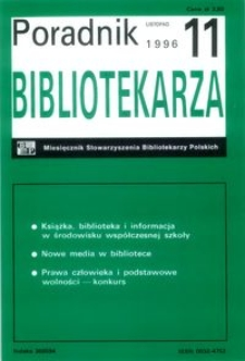 Poradnik Bibliotekarza 1996, nr 11