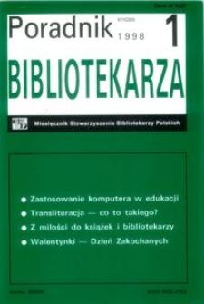 Poradnik Bibliotekarza 1998, nr 1