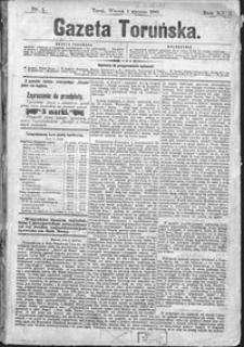 Gazeta Toruńska 1889, R. 23 nr 1