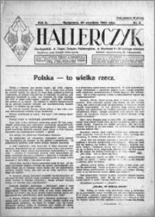 Hallerczyk. Organ Związku Hallerczyków 1924.09.20 R.2 nr 2