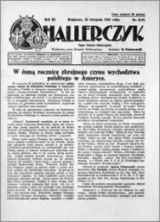Hallerczyk. Organ Związku Hallerczyków 1925.11.20 R.3 nr 18-19