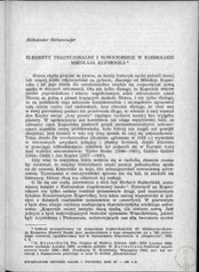 Elementy tradycyjne i nowatorskie w kosmologii Mikołaja Kopernika