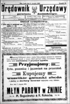 Orędownik Urzędowy powiatu Żnińskiego 1923.08.08 R.36 nr 61