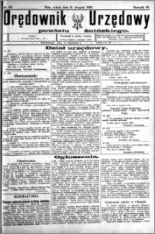 Orędownik Urzędowy powiatu Żnińskiego 1923.08.11 R.36 nr 62