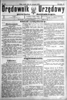 Orędownik Urzędowy powiatu Żnińskiego 1923.08.22 R.36 nr 65