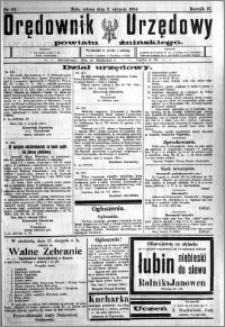Orędownik Urzędowy powiatu Żnińskiego 1924.08.09 R.37 nr 61