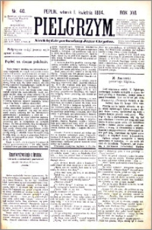Pielgrzym, pismo religijne dla ludu 1884 nr 40