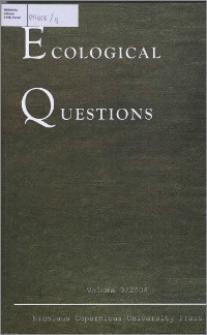 Ecological Questions Vol. 9 (2008)