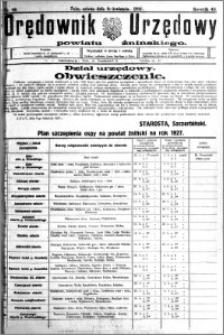 Orędownik Urzędowy powiatu Żnińskiego 1927.04.09 R.40 nr 29