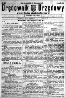 Orędownik Urzędowy powiatu Żnińskiego 1927.11.23 R.40 nr 90